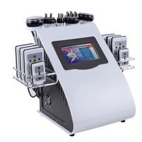 Chegada Nova 6in1 40K Ultra-cavitação vácuo Radio Frequency Laser 8 Pads lipo emagrecimento máquina Laser