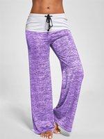 Rahat Pantolon Bahar Sonbahar Bayan Kapalı Yüksek Bel İpli Gevşek Rahat Tayt Capris Pamuk Karışımı Yoga Eğitim Spor Pantolon 453