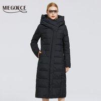 Miegofce kadın yeni kış pamuk ceket eğimli placket moda kadınlar ceket uzun sıcak parka rüzgar geçirmez ceket kadın parkas 200930