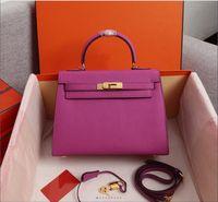 جديد اللون espom الأزياء حقائب 25 سنتيمتر 28 سنتيمتر النساء حقائب جلد طبيعي حقائب الكتف سيدة حقيبة يد جودة عالية صور حقيقية