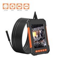 Caméras P40 8mm Lens Industrial Endoscope 1080P Caméra d'inspection 2600MAH IP67 Borecope imperméable de 4,3 pouces HD IPS écran d'écran