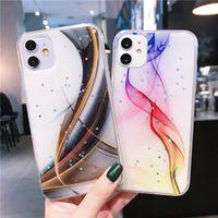 Estuche de teléfono de mármol de color gradual de la vendimia para iPhone 11 Pro Max XR XS MAX 6 6S 7 8 Plus x Matte Soft IMD Atrás