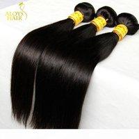 Pas cher malaisienne droite Vierge Cheveux Cheveux Weave non transformés Bundles Remy Extensions malaisiennes droites LANDOT Produits pour les cheveux