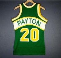 Erkekler Gençlik Kadın Vintage Gary Payton Mitchell Ness 94 95 Koleji Basketbol Forması Boyutu S-5XL veya Özel Herhangi Bir Ad veya Numara Forması