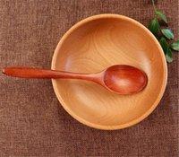 Горячая балка обеда для ужин 18,8 см Деревянные ложки древесины суп ложки для еды смешивание перемешивание, приготовление длинной ручкой ложка с японской кухней