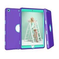 pour iPad 10.2 ipad7 7 pouces 3 en 1 Defender antichocs militaire Case Extrème couverture de silicone