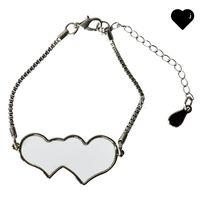 Love Form Bracelets Bracelets Party Fasher Sublimation Blanks Diy Printable металлическая цепь браслета женские Ювелирные аксессуары Валентина подарки 4 09BF N2