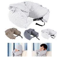 Almohada cuerpo cuello sólido gris siesta algodón partícula soft con capucha accesorios aeroplano viaje textil u-almohada casa coche