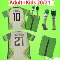 الكبار + Kids Kit مع الجوارب 2020 2021 Soccer Jerseys Boys Boys 20 21 Okechukwu Okocha Ahmed Musa Osimhen Eighalo Child Skin قمصان كرة القدم