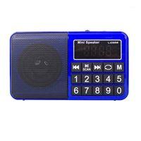 L-238SW Mini Digital multi Band full Band FM AM MW SW Ricevitore del ricevitore della scheda TF e dell'unità flash USB (blu) 1