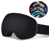 위치 마그네틱 전문 스키 고글 더블 레이어 UV400 안개 안개 스노우 보드 스키 안경 남성 여성 스키 마스크 Eyewear Q0109