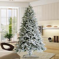 ABD Hisse Senedi Yapay Noel Ağacı Floklu Çam İğne Ağacı ile Koniler Kırmızı Çilek 7.5 FT Katlanabilir Standı W49819949