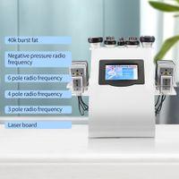 6 em 1 máquina de emagrecimento 40k Cavitação de lipoaspiração ultra-sônica 8 pads laser vácuo RF radiofrequência cuidados com a pele salão de beleza spa