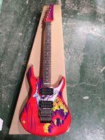 20º aniversario personalizado JS20S firmó a Joe Satriani Surfing w / The Alien Electric Guitar Joe Satriani autografiado Backplate