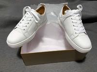 Üst Erkek Kırmızı Dipleri Ayakkabı Toptan Ucuz Gerçek Deri 50% Off Rahat Rahat Moda Kadınlar Beyaz Çiftleri Ace Lüks Sneakers Büyük Boy 47