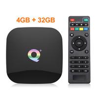 Q Plus Android 9.0 Smart TV Box 2G16G 4GB 32GB Quad Core USB3.0 2.4G WiFi PK H96 X96 MAX