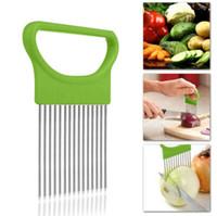 Cozinha Cozinhar vegetais Ferramenta Onion Tomato Slicer Corte Guia Aid Titular Fruit Slicing cortador Gadget Acessórios de cozinha grátis