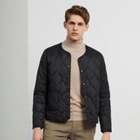 Bosideng curto decote em v novo outono e inverno quente masculino jaqueta interna comutação B90130007