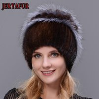 Wholesale-Fashion Fur hair Fur Hats for Women Luxury Real Mink Caps Warm In The Winter Female beanies