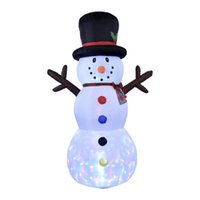크리스마스 장식 풍선 눈사람 8ft 야외 LED 조명 귀여운 모델 거 대 한 장난감 정원 야드 장식 2021 장식
