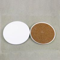 Hohe Weiß Keramik Untersetzer Runde Sublimation Leeres Placemat Getränke Kaffee Fruchtsaft-Kissen Tischdekorzubehör Heißer Verkauf 1 2tt G2