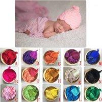 Cappello da neonato a maglia a mano, baby shower, puntelli per puntelli di fotografia neonati, cappelli per neonati. Abbigliamento avvolgente, Sciarfo del bambino di Frech1