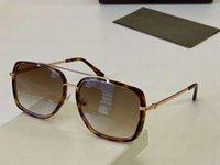 النظارات الشمسية Lionel Gold Havana 0750 750 GAFAS DE SOL الرجال النظارات السوداء خمر ظلال مع صندوق