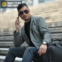 Sektör Yedi Yeni Su Geçirmez Askeri Stil Takım Elbise Ceket Erkek Taktik Blazers Erkekler Ceket Slim Fit Kargo Cep Tasarımı 201104