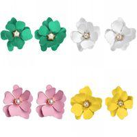 Vielseitige Blume Ohrringe Traum Solide Farbe Neue Blütenblatt Kristall Inlay Ohrstecker Sommer Mode Zubehör 1 8sfd K2