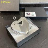 2021 роскошные мини-сердечные кошельки дизайнеры монеты кошельков женщин сердца ключевые кошельки монеты кожаные девушки мини смена сумка с коробкой PD21020201