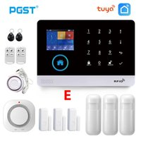 알람 시스템 PGST PG103 Tuya WiFi GSM 무선 홈 보안 화재 연기 감지기 시스템 원격 제어 스마트 수명
