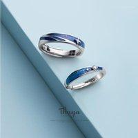 Cluster Rings Thaya Оригинальный дизайн S925 Стерлинговые Серебряные Nebula Пару Для Женщин Элегантные Прекрасные Ювелирные Изделия1