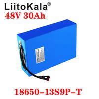 Liitokala 48v 30ah piles pack pack haut puissant pliable pliable pliable planche planche planche à roulettes E Scooter batterie adulte électrique
