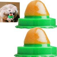 صحي القط المتع وجبات خفيفة النعناع البري الصلبة السكر الحلويات لعق التغذية جل الطاقة فيتامين حلوى كرات لعب للحيوانات القطط القطط زيادة