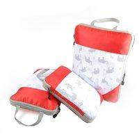 أكياس تخزين الأمتعة المضغوطة 3-piece المحمولة حقيبة سفر الأمتعة مجموعة كاملة للماء الملابس تخزين حقيبة منظم VT2010