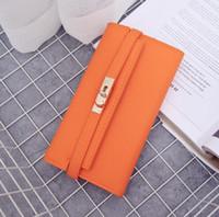 공장 도매 브랜드 여성 핸드백 새로운 조커 가죽 긴 지갑 패션 버클 클러치 가방 우아한 벨트 장식 여성 지갑