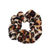 Гладкий коралловый флис бархат классический леопардовый печать насадка для волос эластичные галстуки волос эластичные волосы прически женские волосы аксессуары для волос Q BBYHFZ