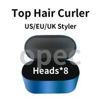 2021 Hava Komple Rap Çok fonksiyonlu Saç Şekillendirici Cihazı Saç Bigudi Otomatik Curling Demir 8 Kafaları Hediye Kutusu