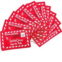 Рождество Мини Красный конверт 2020 Дерево украшения кулон украшения Санта-Клаус подарки конфеты мешок Non сплетенные ткани 1 1yr F2