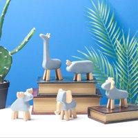 Objets décoratifs figurines style nordique petit sculpture de sculpture créative résine créative artisanat cerf animal ornements salon armoires travaillant sur