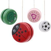 Lindas láminas de animales Yoyo Ladybug Kids Yo-yo Juguetes creativos para niños 5 cm Bola de madera Q1219