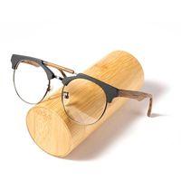Moda Gafas de sol Marcos AZB Marca de madera Conjunto de anteojos de madera Gafas de prescripción ópticas Mujeres Myopia con lente transparente