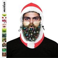 Natale Mask Caps Stampa Digitale per adulti multifunzionale esterno di inverno Ski Warm cappuccio regolabile Copricapo di natale decorazioni della copertura della testa YW17