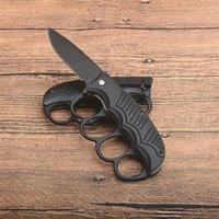 US1918 Knuckle выживание складной нож для выживания 440C черная лезвие точек падения алюминиевая ручка тактические ножи с розничной коробкой