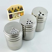 Cuisine Acier inoxydable Spice Shaker Jar Sugar Sel Pepper Herbes BBQ Spice Porte-dents Bouteille de stockage 173 G2