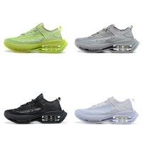 신발을 실행 줌 더블 스택 회색 여성의 남성 트레이너 스포츠 운동화 산책 조깅 겨우 볼트 트리플 검정, 흰색을 CHAUSSURES