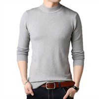 Tambeneck Hommes Pull Brand Automne Slim Fit Sweaters Hommes Casual Solide Turtelneck Pull Pullovers Tricotés Vêtements 4XL