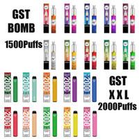 100 % 원래 GST 폭탄 XXL 일회용 vape 키트 1500 1000 퍼프 증기 포드 장치 1000mAh vapes 펜 스틱 시스템 Xtra 최대 정통