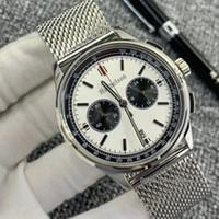 2021 Novo 1884 Mens Relógio Montre de Luxe VK Movimento Relógios De Pulso Cronógrafo Discagem De Dois Tone Todos os Relógios de Madeira de Malha de Aço
