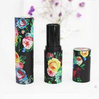 12,1 millimetri fai da te Rossetto Lip Balm tubo Rosa fiori vuoto 200pcs plastica di alta qualità Gloss Cosmetic container